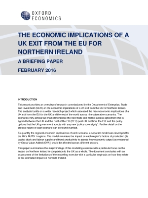Pages from The Economic Implications of a UK Exit from the EU for Northern Ireland